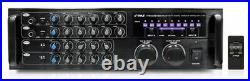 1000 Watt Bluetooth Stereo Mixer Karaoke Amplifier, Microphone/RCA Audio/Video