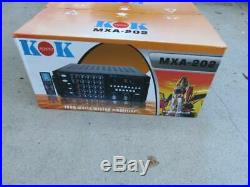 1000 watt karaoke dj mixer mixing amplifier stereo kok audio mxa202