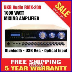 1000W Karaoke Pro Audio DJ MIXER MIXING AMPLIFIER STEREO BKB Audio RMX-200 SALE