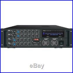 2,000-Watt Bluetooth(R) Stereo Mixer Karaoke Amp Pro Audio