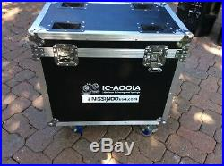 2 Nissindo USA 1c-a001a Moving Lights-130w 2r Lamps With Case