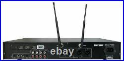 2 in 1 Pro Karaoke Mixer Processor with 2 Microphones & Remote