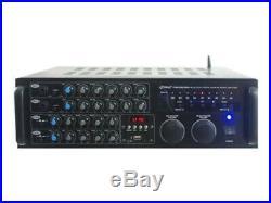2000 Watt BT Stereo Mixer Karaoke Amplifier, Microphone/RCA Audio/Video Inputs