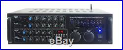 2000-Watt Bluetooth Karaoke Mixer Amplifier Stereo Audio/Video with USB + SD