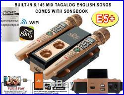 2020 E5 MAGIC SING Karaoke WIFI 2 Wireless MIC + 5145 BUILT-IN SONGS 1 YR SUBS