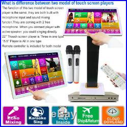 5TB HDD 100K English, Chinese Songs, 15.6Touch Screen Karaoke Player