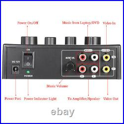 5XPortable Dual Mic Inputs Audio Sound Mixer For Amplifier & Microphone