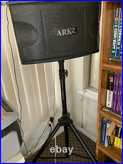 ARK KARAOKE Amplifier 600W with Remote + 2 of 300W Speakers+ Speaker Stands
