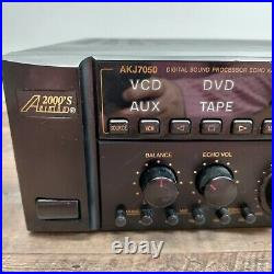 AUDIO 2000 AKJ 7050 Karaoke Mixer Amplifier withPower Cord TESTED WORKING