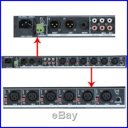 Adastra ML622 6 Channel Microphone or Line PA Mixer + 2x AUX 19 1U Rackmount