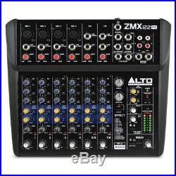 Alto ZMX122FX 8 Channel 2 Bus Live PA Mixing Desk or Studio Mixer 256 FX + More