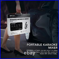 Ammoon Portable Karaoke Microphone Mixer 2 Mic Inputs AUX IN/OUT BT Connection R