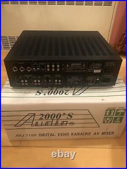 Audio2000'S AKJ7100 Key & Digital Echo Karaoke Mixer Lightly Used