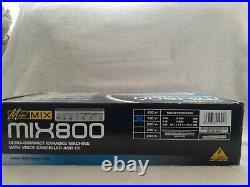 BEHRINGER MIX800 MINIMIX Karaoke MIXER, Voice canceller & DSP effects