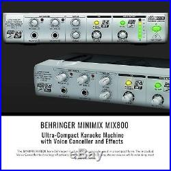 Behringer MINIMIX MIX800 Compact Karaoke Machine with Voice Canceller and Basic