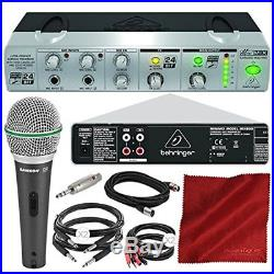 Behringer MINIMIX MIX800 Compact Karaoke Machine with Voice Canceller and Samson