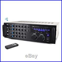 Bluetooth Stereo Mixer Karaoke Amplifier Microphone RCA Audio Video Input 1000 W
