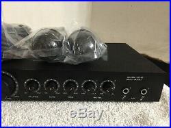 CORVUS LK-600 Digital Echo Karaoke Amplifier Mixer/ Preamp w 2 Mics