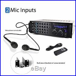 DJ Tech Pro USA, LLC Pyle 1000 Watt Portable Wireless Bluetooth Stereo Mixer