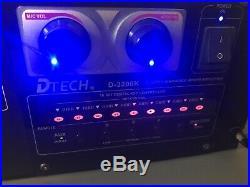 DTech D-3200K 900W Profesional Karaoke Mixed Mixing Amplifier