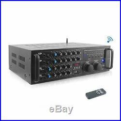 Dual Channel Bluetooth Mixing Amplifier 2000W Rack Mount Karaoke Sound