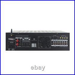 Dual Channel Bluetooth Mixing Amplifier 2000W Rack Mount Karaoke Sound Mixer