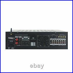 Dual Channel Bluetooth Mixing Amplifier 2000W Rack Mount Karaoke Sound Mixer A