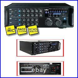 EMB EBK37-2ND Digital Karaoke 700W Amplifier Key Control 2 MICs ECHO Excite