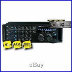 EMB EBK37 700W Digital Karaoke Mixer Amplifier Key Control 2 Mics ECHO Excite-UC