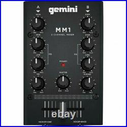 Gemini MM 1 Mixer Stereo Dj 2 Canali Nuovo Garanzia Ufficiale