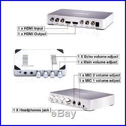 HDMI Karaoke Mixer Amplifier RAKOIT Portable Digital Stereo Audio Echo System