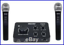 Hisonic HS223 2-in-1 Digital Smart Home Karaoke Sound Mixer & Dual UHF Cordle