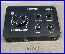 Hisonic HS223 Digital Smart Home Karaoke Sound Mixer Dual UHF Microphone
