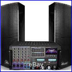 IDOLPRO IP-6000 II 8000w PRO KARAOKE MIXER POWER AMP & IPS DELUXE SPEAKERS COMBO