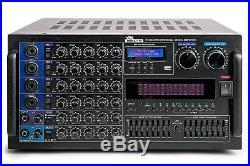IDOLmain IP-5000 6000W KARAOKE Amplifier With LED Equalizer, Bluetooth, & Recorder