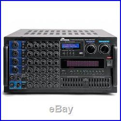 IDOLmain IP-5000 6000W Professional Digital Karaoke Mixing Amplifier LED Graphic
