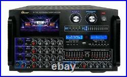 IDOLmain IP-7500 8000W Professional Karaoke Digital Mixing Amplifier LCD Screen