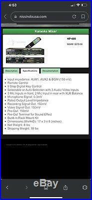 Karaoke mixer BETTER MUSIC BUILDER KP-600 HIGH QUALITY MIXER