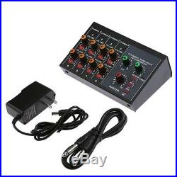 Microphone Audio Mixer Karaoke Microphones Sound Mixing Amplier Reverberation