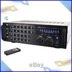 NEW Pyle 1000-Watt BT+ Stereo Audio/Video Mixer Karaoke Amplifier withRemote