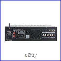 NEW Pyle 2000-Watt Bluetooth Stereo Audio/Video Mixer Karaoke Amplifier withUSB/SD