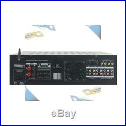 NEW Pyle 2000W B+T Wireless Stereo Audio/Video Mixer Karaoke Amplifier withUSB/SD