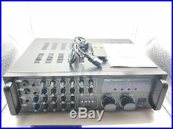 NEW Pyle PMXAKB2000 2000 Watts (1000W + 1000W at 4 Ohms) DJ Karaoke Mixer
