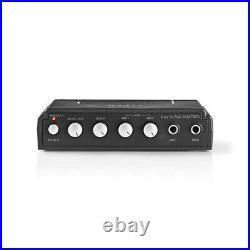 Nedis Karaoke Mixer Set with 2 Microphones Included Black MIXK050BK