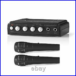 Nedis Karaoke Mixer inc 2 Microphones Home Party Karaoke Machine Sound Mic Kit