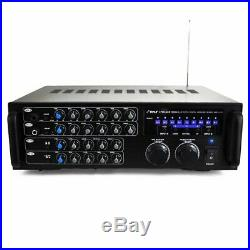 New Pyle 1000 Watt Bluetooth Stereo Audio/Video Mixer Karaoke Amplifier WithRemote