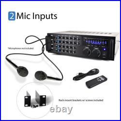 New Pyle PMXAKB1000 1000W Bluetooth Karaoke DJ Mixer with Two Microphone Input RCA