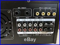 New Pyle PMXAKB2000 2000 Watt Bluetooth Stereo Mixer Karaoke Amplifier