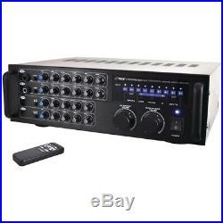 New Pyle Pro 1000-watt Bluetooth Stereo Mixer Karaoke Amp PYLPMXAKB1000