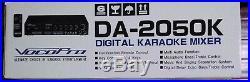 New in Box VocoPro DA-2050K Digital Karaoke Mixer w Key Control and Echo